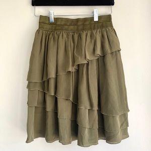 Alice + Olivia | 100% Silk Tiered Skirt